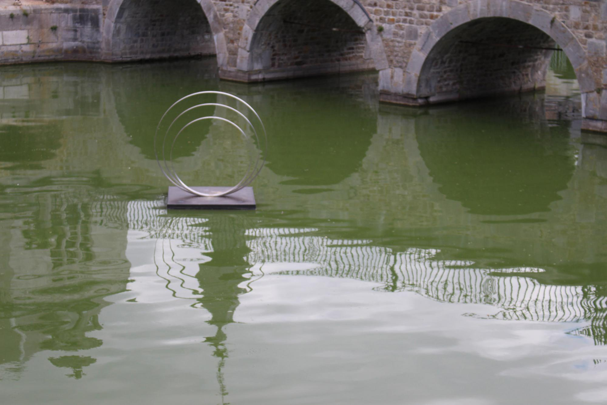 Five floating sculptures